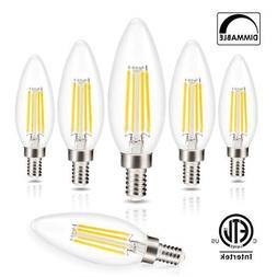 Candelabra LED Bulbs Filament Dimmable Vintage Edison Light