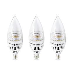 SANSI Candelabra Light Bulb LED Lamp 60W Equiv Candle Chande