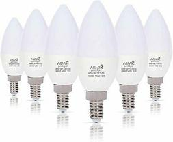 LED Candelabra Light Bulbs B11  Candle Shape E12 Base by Sim