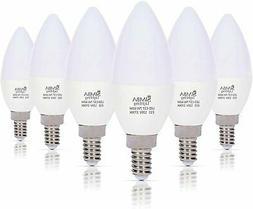 LED Candelabra Light Bulbs B11  Candle Shape E12 Base by Sim