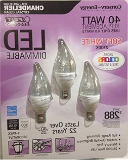 Feit LED 4 9 Watt LED Candelabra Light B