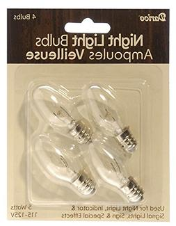 Candle Lamp Collection Night Light Bulbs-5 Watts 4/Pkg