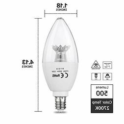 Candle LED Light Bulb 6W Daylight Warm White for Ceiling Fan