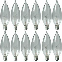 Candle Light Bulbs Incandescent 40w Watt Candelabra Base Cha