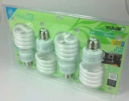 Case of 24 Maxlite 23-Watt 100W Equivalent CFL Light Bulbs S