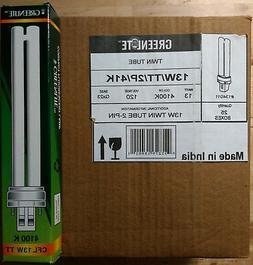 Case of 25 Greenlite 13W/TT/2P/41K Twin Tube Plug-In 2-Pin C