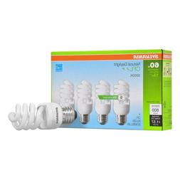 Sylvania CFL Natural Daylight Bulbs 60W 4-Pack - New in Box