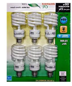 Sylvania CFL 2700K 100W Replacement Bulbs  New