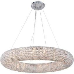 Chandeliers 20 Light Fixture With Chrome Tone Finish Iron G9