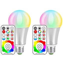 iLC LED Color Changing Light Bulb with Remote Control RGBW -