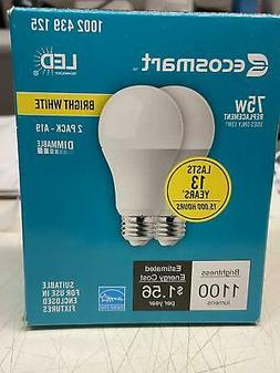 CHK TO SEE HOW MANY EcoSmart 75-Watt Equiv. A19 Dimmable LED