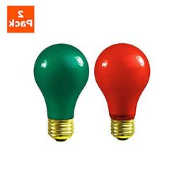 Christmas Light Bulbs - 60 Watt Red and Green Light Bulbs -