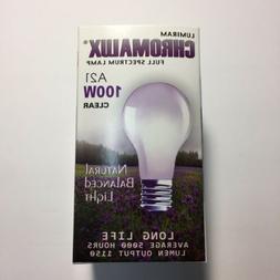 Chromalux Light Bulb, Full Spectrum Clear Light - 100W Bulb
