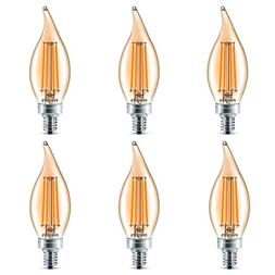 Philips LED Classic Glass Amber BA11 Dimmable Light Bulb: 27