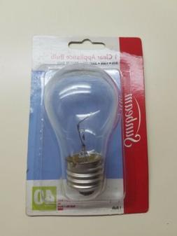 Sunbeam Clear Appliance Bulb 40 watt e26 Oven Refrigerator M