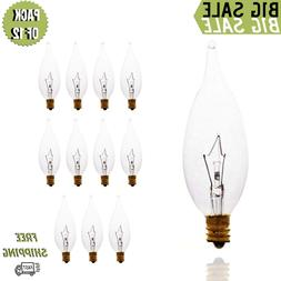 clear flame shaped incandescent chandelier
