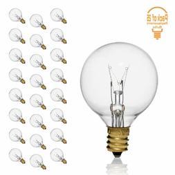 Clear G40 5 Watt for String Lights  Globe Bulbs with Candela