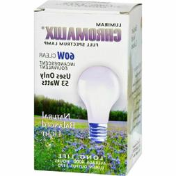 Chromalux Standard Clear Light Bulb, 60 Watt
