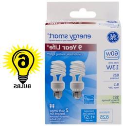 Compact Fluorescent Bulb, 13 Watt, T3 Spiral, Soft White