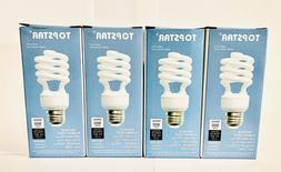 4 PK TOPSTAR  Compact Fluorescent Light Bulbs13 Watt 2700K W