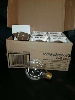 GE Lighting Crystal Clear 24662 60-Watt, 670-Lumen G25 Light