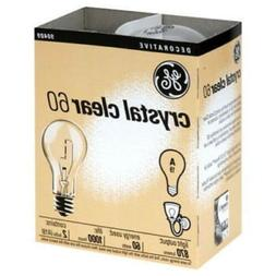 Ge Crystal Clear 60 Watt A19  Standard Light Bulb E26 Base