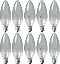 GE Lighting Crystal Clear 74974 15-Watt, 95-Lumen Blunt Tip