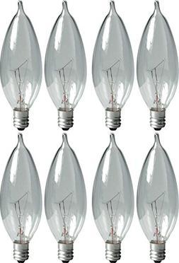 GE Lighting Crystal Clear 66104 25-Watt, 220-Lumen Bent Tip