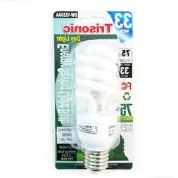 Daylight Light Bulb CFL 33 W 75 Watt White Compact Fluoresce