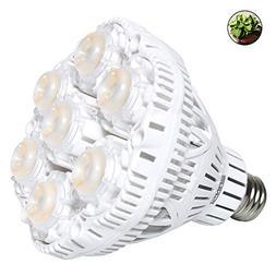 SANSI 40W Daylight LED Plant Light Bulb Full Spectrum Cerami
