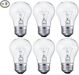 6 pack 15-Watt Decorative A15 Incandescent Light Bulb, Mediu