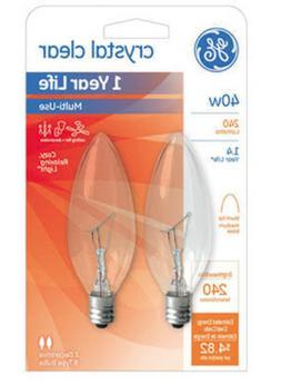 Ge Decorative Blunt Tip Light Bulb 40 W 370 Lumens Candelabr