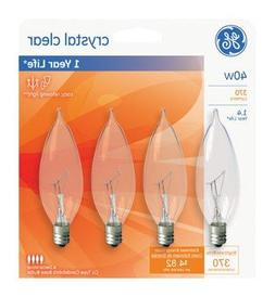 Ge Decorative Bulb 40 W Clear Pack / 4