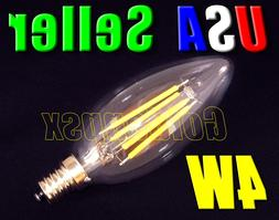 Dimmable 120V AC 4W Warm White LED E12 Base Candelabra Candl