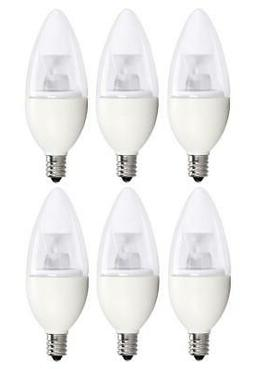 Bioluz LED Dimmable 40 Watt Candelabra Bulbs, Blunt Tip LED