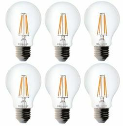 Bioluz LED Dimmable 40W Clear Edison Style Filament LED, A19