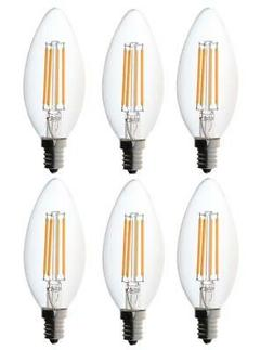 Bioluz LED Candelabra LED Bulbs 60W Dimmable 2700K Warm Whit