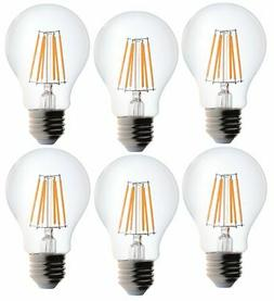 Bioluz LED Dimmable 60W Clear Edison Style Filament LED, A19