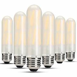Dimmable 8W Frost Tubular LED Bulbs, 4000K Daylight White, E
