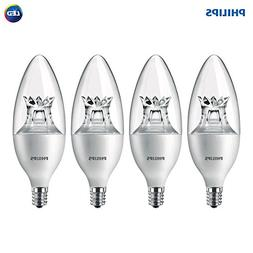 Philips LED Dimmable B12 Soft White Light Bulb with Warm Glo