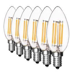 Dimmable E12 E14 Light Bulb LED Retro Edison COB Filament Ca