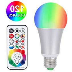 SUNNEST Dimmable E26 LED Light Bulb , 120 Colors LED Light B