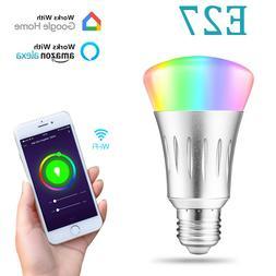 Dimmable E27 RGB LED Wifi Smart Bulb Light Bulbs For Amazon