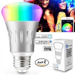 Dimmable E27 RGB LED Wifi Smart Bulb Light Bulbs Works With