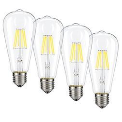 Dimmable Edison LED Bulb, Daylight White 4000K, Kohree 6W Vi