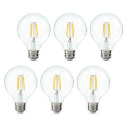 Dimmable Edison Led Globe Light Bulb G25, Warm White 2700K,