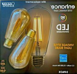 Feit Dimmable LED Edison Style Vintage 2200K Amber White 2-P