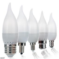 Dimmable LED Candle Light Bulbs 3W Flame Chandelier E14 E27