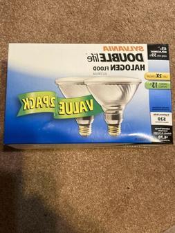 Sylvania Double Life 45W/39W Halogen Flood Light Bulbs - 2 P