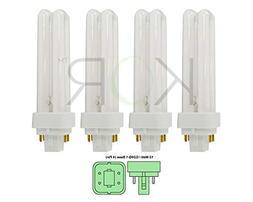 13 Watt Double Tube - G24Q-1  Base - 2700K Warm White - CFL